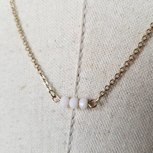 Simple elegant necklace with three beads
